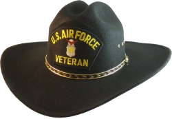 View Buying Options For The US Air Force Veteran Logo Patch Felt Cowboy Western Mens Hat