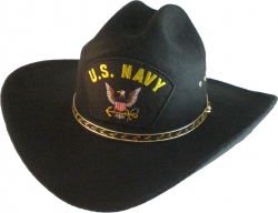 View Buying Options For The US Navy Logo Patch Felt Cowboy Western Mens Hat