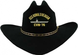 View Buying Options For The USS Ronald Reagan CVN-76 Patch Felt Cowboy Western Mens Hat