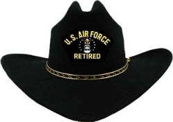 View Buying Options For The U.S. Air Force Retired Logo Patch Felt Cowboy Western Mens Hat