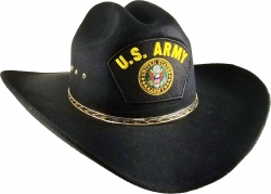 View Buying Options For The US Army Logo Patch Felt Cowboy Western Mens Hat