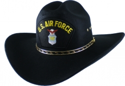 View Buying Options For The US Air Force Logo Patch Felt Cowboy Western Mens Hat