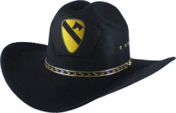 View Buying Options For The 1st Cavalry Division Patch Felt Cowboy Western Mens Hat