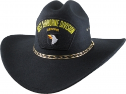 View Buying Options For The 101st Airborne Division Patch Felt Cowboy Western Mens Hat