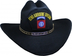 View Buying Options For The 82nd Airborne Division Patch Felt Cowboy Western Mens Hat