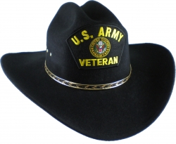 View Buying Options For The U.S. Army Veteran Logo Patch Felt Cowboy Western Mens Hat