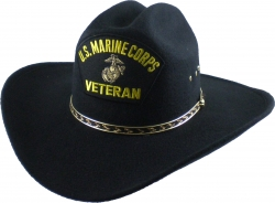 View Buying Options For The U.S. Marine Corps Veteran Patch Felt Cowboy Western Mens Hat