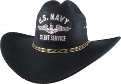 View Buying Options For The US Navy Silent Service Silver Patch Felt Cowboy Western Mens Hat