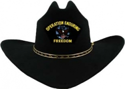 View Buying Options For The Operation Enduring Freedom Patch Felt Cowboy Western Mens Hat
