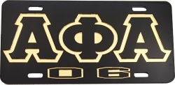 View Buying Options For The Alpha Phi Alpha 06 Outline Mirror License Plate