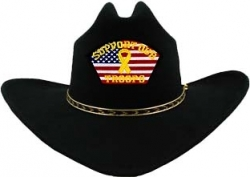 View Buying Options For The Support Our Troops U.S. Flag Patch Felt Cowboy Western Mens Hat