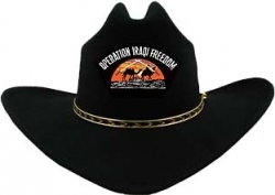 View Buying Options For The Operation Iraqi Freedom Camels Patch Felt Cowboy Western Mens Hat