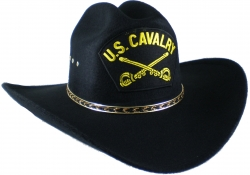 View Buying Options For The U.S. Cavalry Patch Felt Cowboy Western Mens Hat