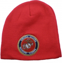 View Buying Options For The US Marine Corps Round Emblem Short Beanie Cap