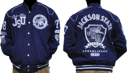 View Buying Options For The Jackson State University Tigers S6 Mens NASCAR Racing Twill Jacket