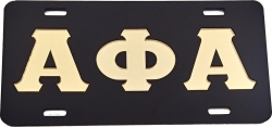 View Buying Options For The Alpha Phi Alpha Classic Mirror License Plate