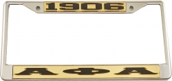 View Buying Options For The Alpha Phi Alpha 1906 Big Letter License Plate Frame