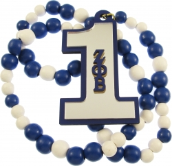 View Buying Options For The Zeta Phi Beta Line #1 Mirror Wood Color Bead Tiki Necklace