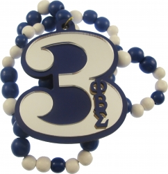 View Buying Options For The Phi Beta Sigma Line #3 Mirror Wood Color Bead Tiki Necklace