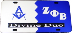 View Buying Options For The Mason + Zeta Phi Beta Divine Duo Split License Plate