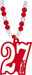 View Buying Options For The Kappa Alpha Psi Line #27 Mirror Wood Color Bead Tiki Necklace