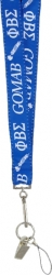 View Buying Options For The Phi Beta Sigma Break Away Woven Lanyard Keychain