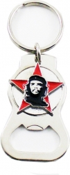 View Buying Options For The Che Guevara Head On Red Star Metal Bottle Opener Keychain