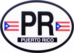 View Buying Options For The Puerto Rico Flag 2-Letter Oval Reflective Decal [Pre-Pack]