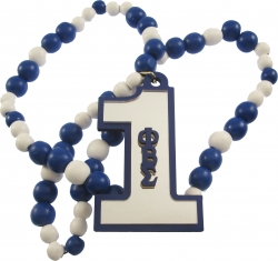 View Buying Options For The Phi Beta Sigma Line #1 Mirror Wood Color Bead Tiki Necklace