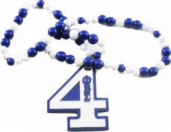 View Buying Options For The Phi Beta Sigma Line #4 Mirror Wood Color Bead Tiki Necklace