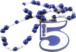 View Buying Options For The Phi Beta Sigma Line Number 05 Mirror Wood Color Bead Tiki Necklace