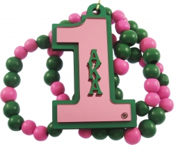 View Buying Options For The Alpha Kappa Alpha Line #1 Mirror Wood Color Bead Tiki Necklace
