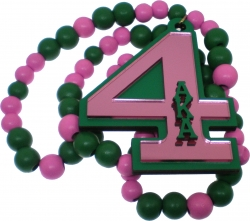 View Buying Options For The Alpha Kappa Alpha Line #4 Mirror Wood Color Bead Tiki Necklace