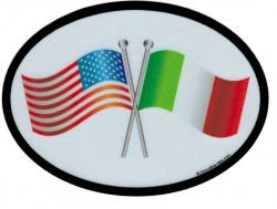 View Buying Options For The United States + Italy Friendship Flags Oval Reflective Decal [Pre-Pack]