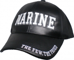 View Buying Options For The Marine Text The Few The Proud Leather Mens Cap