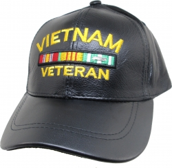 View Buying Options For The Vietnam Veteran Ribbons Leather Mens Cap
