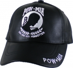 View Buying Options For The POW MIA Logo Leather Mens Cap