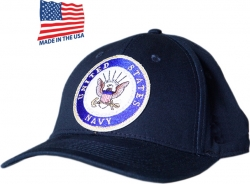 View Buying Options For The US Navy Round Emblem Made In USA Mens Cap