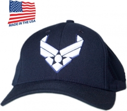 View Buying Options For The US Air Force Wings Emblem Made In USA Mens Cap