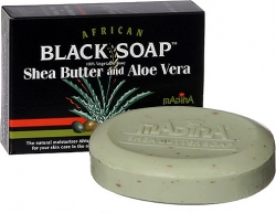 View Buying Options For The Madina Shea Butter & Aloe Vera African Black Soap [Pre-Pack]