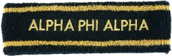 View Buying Options For The Alpha Phi Alpha Sport Stripes Terry Mens Headband