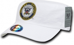 View Buying Options For The RapDom United States Navy Eagle Logo The Private Mens Flat Top Cap