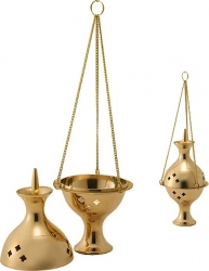 View Buying Options For The Madina Globe Shaped Charcoal Censor Brass Hanging Incense Burner