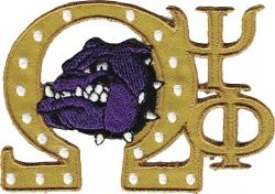 View Buying Options For The Omega Psi Phi Swag Series Tackle Twill Iron-On Patch