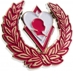 View Buying Options For The Kappa Alpha Psi Sweetheart Silhouette Wreath Lapel Pin