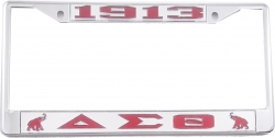 View Buying Options For The Delta Sigma Theta 1913 Elephants License Plate Frame