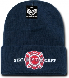 View Buying Options For The RapDom Fire Dept Public/Safety Mens Cuff Long Beanie Cap