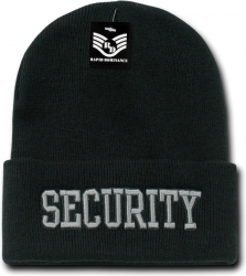 View Buying Options For The RapDom Security Text Public Safety Mens Long Cuff Beanie Cap