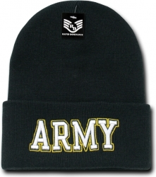 View Buying Options For The RapDom Army Text Mens Military Long Cuff Beanie Cap