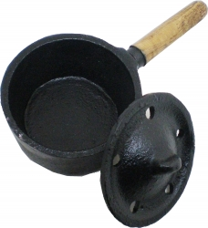 View Buying Options For The New Age Cast Iron Cauldron with Wooden Handle
